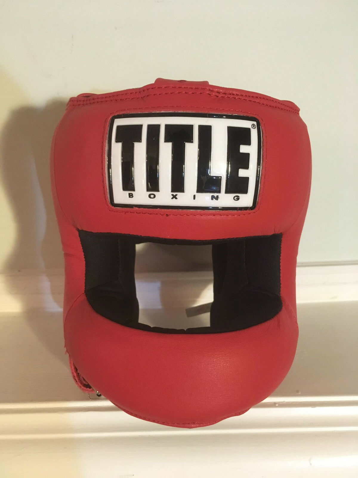 TITLE Boxing Face Predector Training Headgear Red One Size