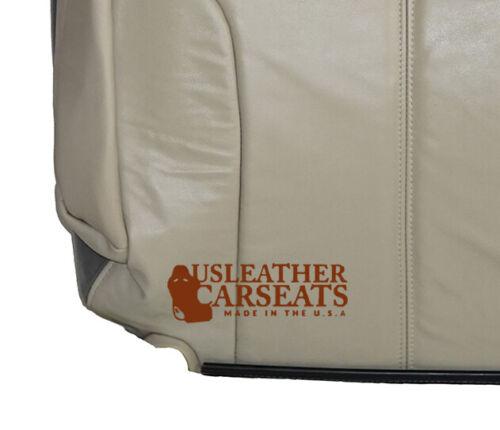 2002 GMC Sierra 1500 Denali 4WD Driver Lean Back Leather Seat Cover 2 Tone Gray