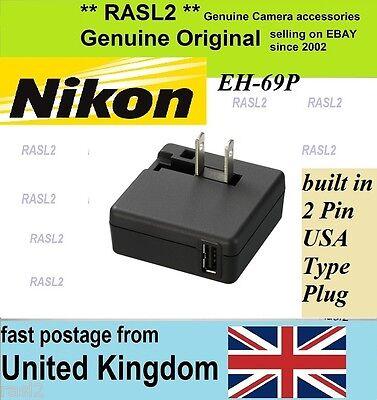 Nikon S100 ac Nikon S2500 ac Nikon S3500 Nikon S8100 ac Nikon S3100 ac USB for Nikon S8000 ac Nikon S3300 ac EH-69P AC Adapter Nikon P100 ac