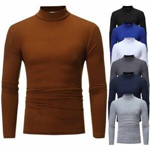 Men-039-s-Warm-Cotton-High-Neck-Pullover-Jumper-Sweater-Tops-Turtleneck-Shirts-Tops