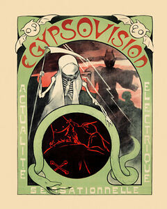 Details about Egypsovision Grim Reaper Devil Bat Wizard Occult Vintage  Poster Repro FREE S/H