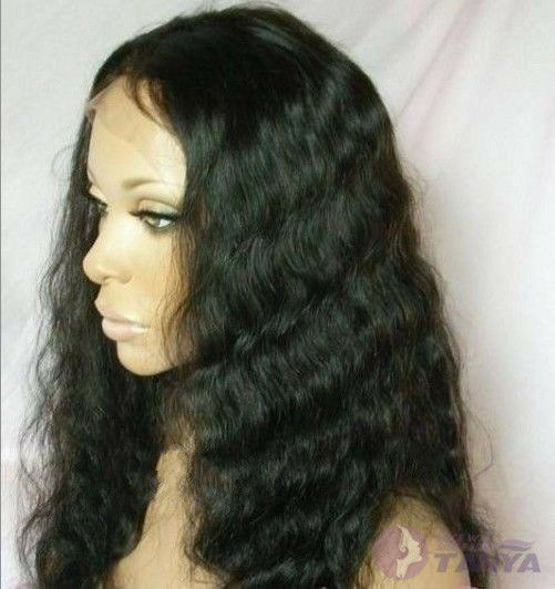 """8""""-22"""" Malaysia Body Wave 100% Indian Remy Human Hair Front Lace Wig ^-^"""