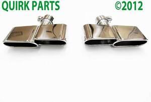 2006-2010-Volkswagen-Passat-B6-Chrome-Exhaust-Tips-Left-amp-Right-Side-GENUINE-OEM