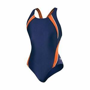 Speedo Womens Powerflex Eco Taper Splice Pulse Back One Piece Swimsuit
