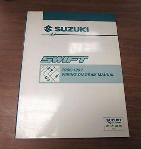 1996 1997 suzuki swift wiring diagram service supplement manual ebay suzuki savage wiring diagram image is loading 1996 1997 suzuki swift wiring diagram service supplement