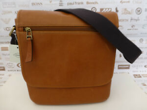 e508b0ebd2 FOSSIL City Bag TREY Sml-Med Shoulder Tan Brown Leather Body Bags ...