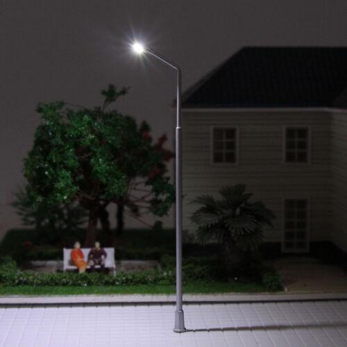 T89 10 Stk LED Lampen 105mm  Spur 0 H0 12V Leuchte Straßenlampen NEU