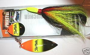 "5/"" Slopmaster Joe Bucher Musky Pike Spinnerbait Black Orange 528-85005"