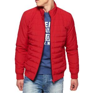 Details zu Superdry Herren International Quilted Jacket Jacke Rot