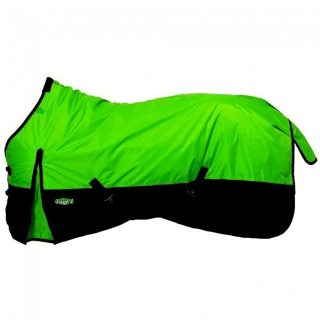 Tough1 78 Neon verde 1200D 150gm Fill Waterproof Poly Turnout Blanket Equine