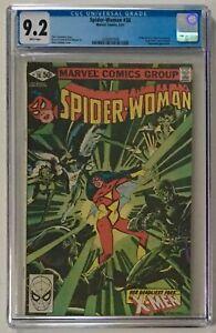 Spider-Woman-38-CGC-9-2-NM-WP-X-Men-Appearance-Marvel-Comics-1981-Claremont