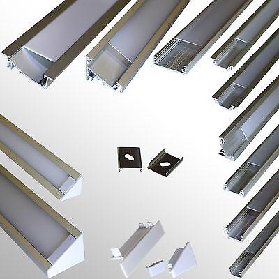 Aluprofil 1Meter für LED Streifen Profil Alu Aluminium Schiene NEU! Art. 9010-90