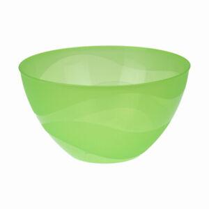 Saladier-en-Plastique-Ronde-Service-Cuisine-Bol-Fruits-Salades-4-5L-Vert-26cm