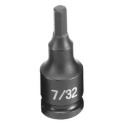 Grey Pneumatic 1907F 3/8 Drive Fractional Hex Driver Impact Socket 7/32