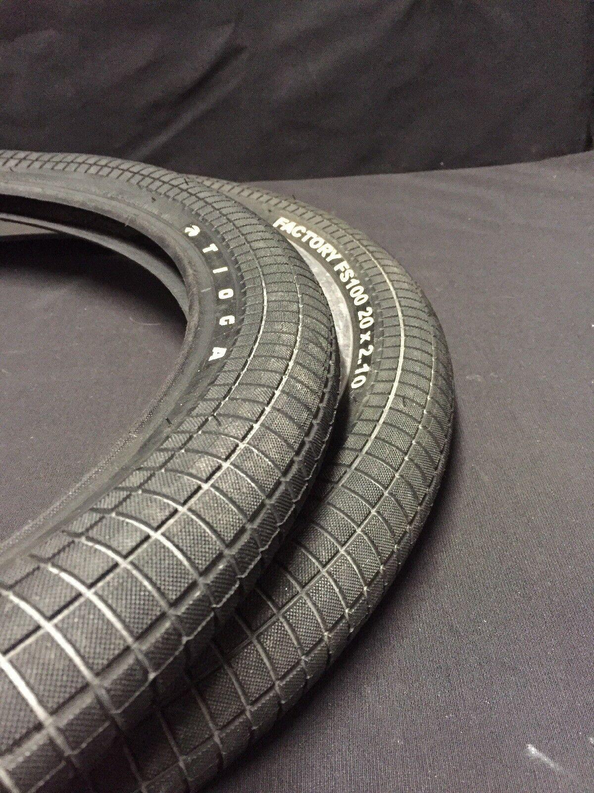 New 20x2.10 Tioga FS100 BMX tire set 100psi freestyle fits  Haro Redline Gt dyno
