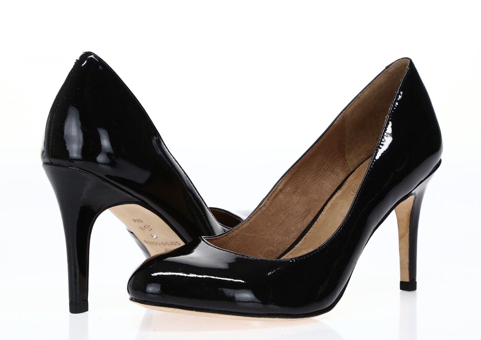 Para mujer corso corso corso como Charol Negro Zapatos De Salón Talla 8  alta calidad y envío rápido