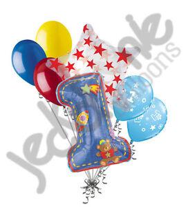 Image Is Loading 7 Pc Hugs Amp Stitches Happy 1st Birthday