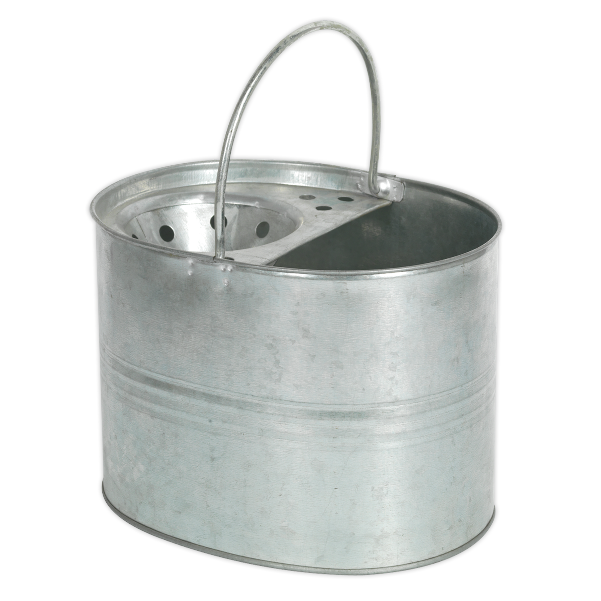 Mop Bucket 13ltr - Galvanized Sealey BM08 by Sealey New