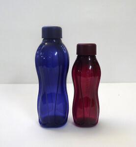 TUPPERWARE-EcoEasy-Trinkflasche-Schraubverschluss-500ml-310ml-DUNKELBLAU-ROT
