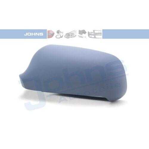 JOHNS 13 09 37-91 Außen-Spiegel Kappe Abdeckung links lackierbar AUDI A4 8D