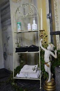 Etagere-Serviettes-Deco-Salle-De-Bain-Vintage-Shabby-Chic-Provencal-Blanc-Metal