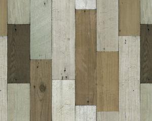 Vintage wood panel khaki vinyl self adhesive wallpaper for Wooden wallpaper price