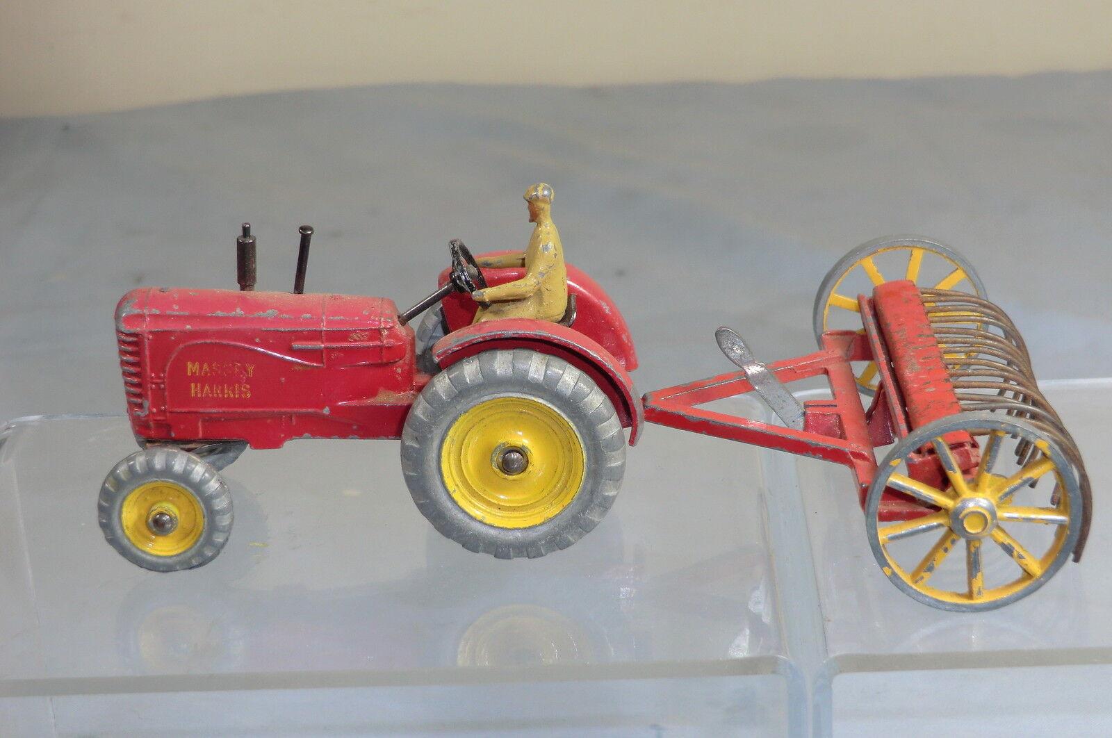 Vintage DINKY TOYS Ensemble Cadeau Modèle No.27AK  Massey Harris  tracteur & râteau à foin   vous rendre satisfait