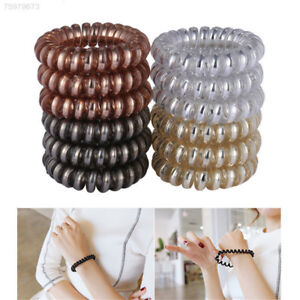 12pcs-Simple-Women-Girl-Elastic-Rubber-Hairband-Hair-Ties-Spiral-Rubber-Rope-New