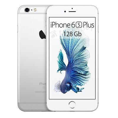"""APPLE • iPhone 6s PLUS 128Gb SILVER • GARANZIA 2 ANNI • s 5.5"""" 64-Bit 4G • NUOVO"""