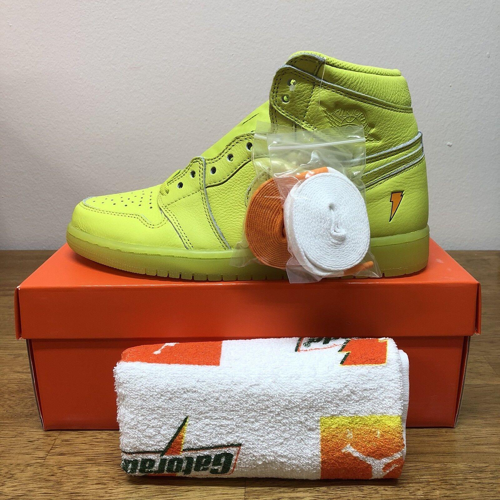 Nike Air Jordan 1 Retro High OG Gatorade Lemon Lime Cyber Yellow AJ5997-345