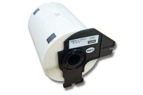 200 DRUCKER ETIKETTEN 102x152mm STANDARD für BROTHER P-touch DK-11241