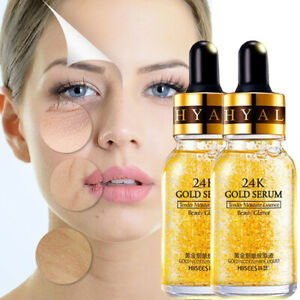 24K-Gold-Essence-Serum-Skin-Care-Wrinkles-Anti-Aging-Liquid-Face-Cream-UK