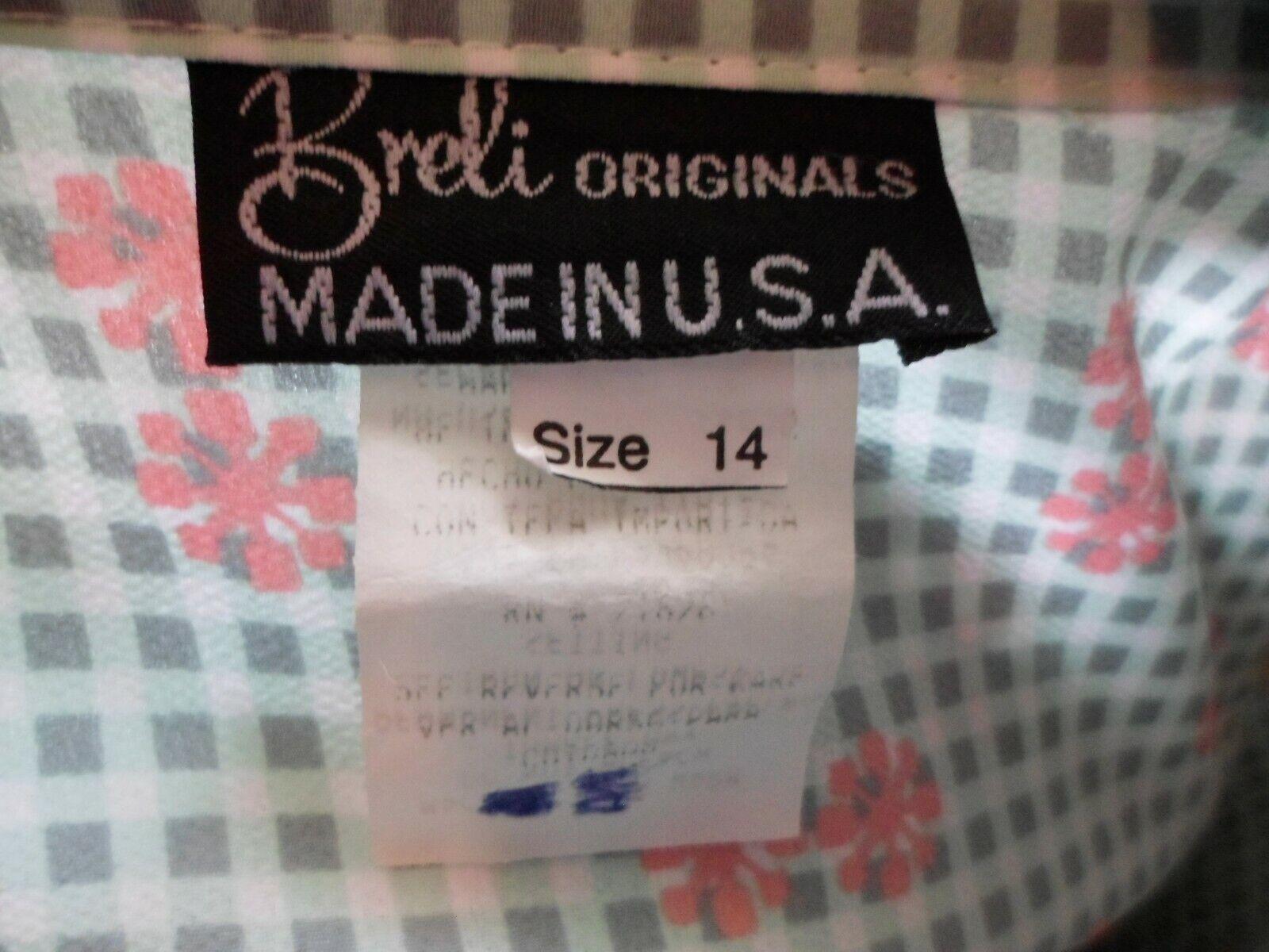 Vtg 70s Breli Originals  Belted Shirt Dress~Mint … - image 9
