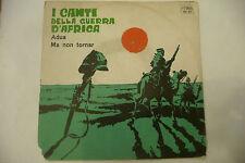 """I CANTI DELLA GUERRA D'AFRICA""""ADUA-disco 45 giri LA SONOR 1963"""""""