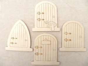Image is loading Wooden-fairy-Doors-with-engraved-details-faerie-elf- & Wooden fairy Doors with engraved details faerie elf doors Mini ...