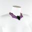 Handmade in the UK post-fetish goth gummi collar vamp Latex Bat Necklace