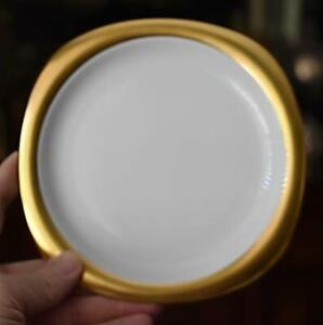 GORGEOUS HTF ROSENTHAL STUDIO LINE CONCEPT 2 SUOMI GOLD WHITE BREAD PLATE HAVE 9