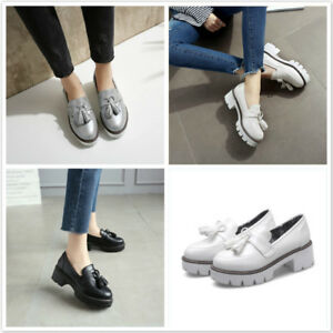 a600f34a3f9fd Details about Women Fashion Elegant Mid Chunky Heel Shoes Platform Gothic  Oxford Pumps Lady