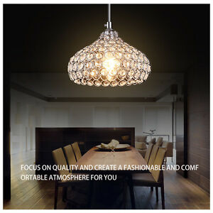 Image Is Loading Modern Home Crystal Ceiling Pendant Light Shade Jewel
