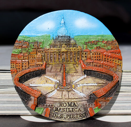 SOUVENIR RESIN 3D The Vatican FRIDGE MAGNE ----- ROMA BASILICA DI S.PIETRO