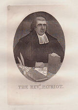 JOHN KAY Original Antique Etching. Rev. Dr Thomas Hardie, Minister of..., 1782
