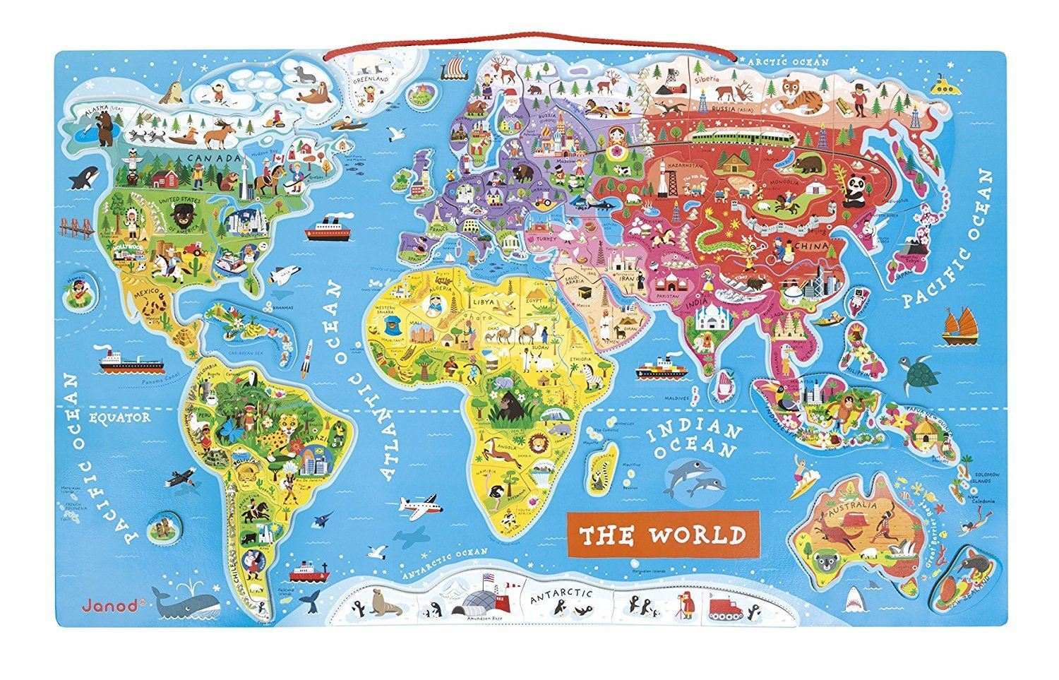Juratoys Magnetic World Map Puzzle - J05504