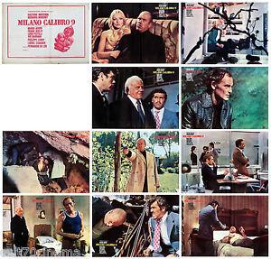 MILANO CALIBRO 9 SET FOTOBUSTA 10 PZ. FERNANDO DI LEO POLIZIESCO 1972 LOBBY CARD
