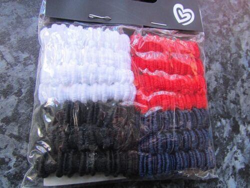 Pack 14 capelli tessuto Ponios Bobbles 3,5 cm Elastici Rosso Blu e Bianco Set FASCE DI CAPELLI