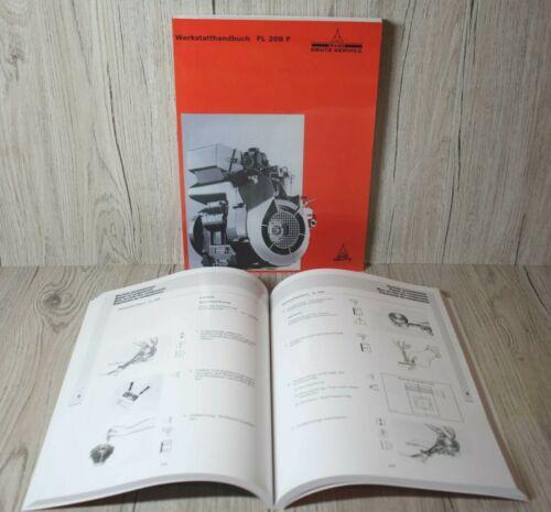F2L 208 F . Deutz Werkstatthandbuch Motor F1L 208 F