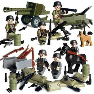 Lego-WW2-Bataille-de-Normandie-Soldats-Allemands-Militaire-Armee-Military-toy