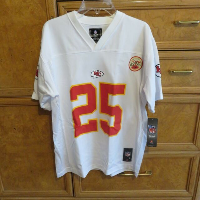 08107d8b116 Youth NFL Team Apparel Jersey Jamaal Charles KC Chiefs white sz L 14 16 NWT