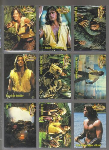Hercules The Complete Journeys 120 card set from Rittenhouse 2001 Xena