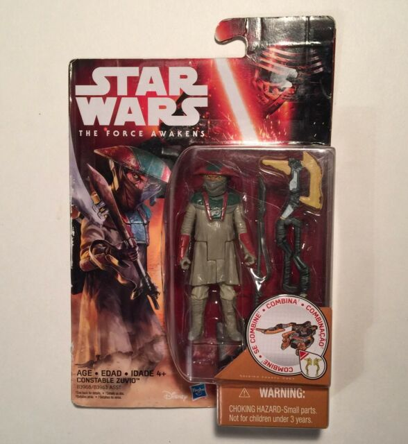 "Star Wars Constable Zuvio Figure The Force Awakens 3.25"" Tall Disney Hasbro"