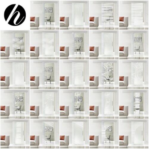 Glasschiebetür Design Glas Innentür Zimmertür Ganzglastür EX1YXX-3173N